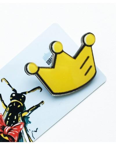 Пластиковый значок Queen