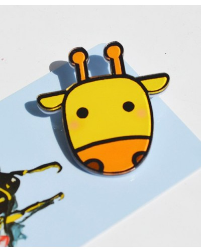 Пластиковый значок Giraffe