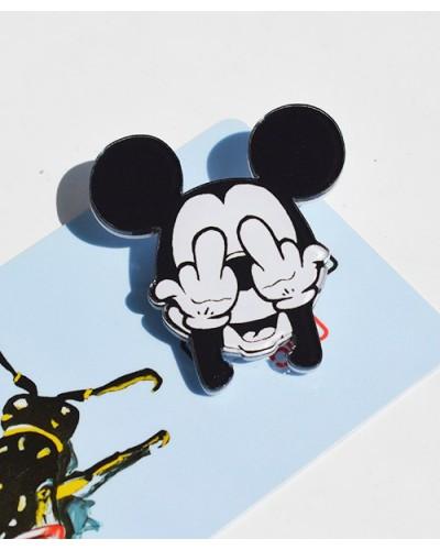 Пластиковый значок  Mickey's fingers