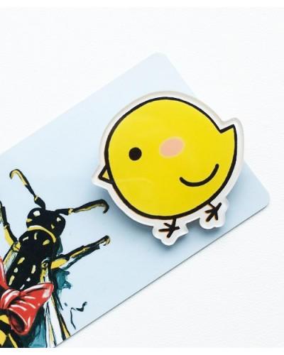 Пластиковый значок Chick