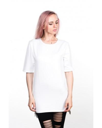 Удлиненная футболка Blank White Unisex