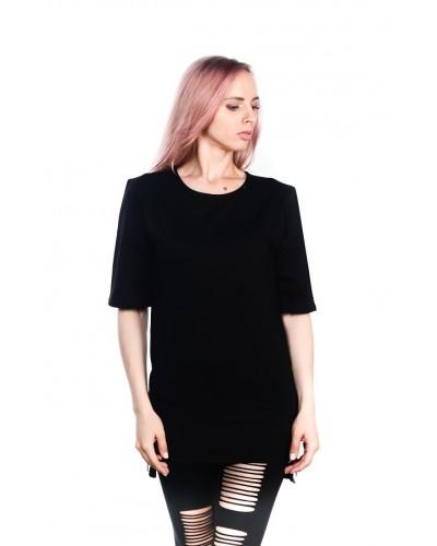 Удлиненная футболка Blank Black Unisex