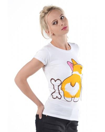 Женская футболка с Корги
