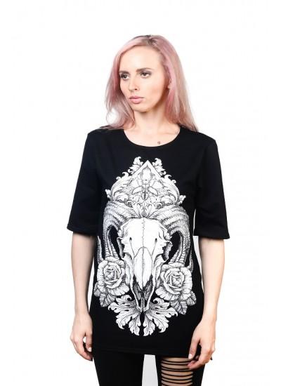 Удлиненная футболка Ram Black Unisex