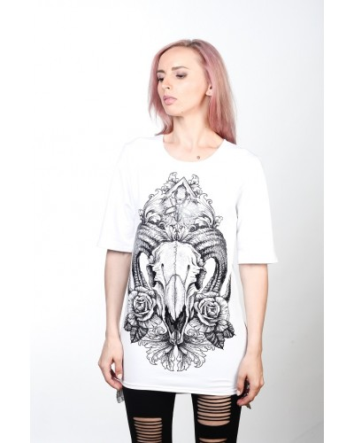 Удлиненная футболка Ram White Unisex