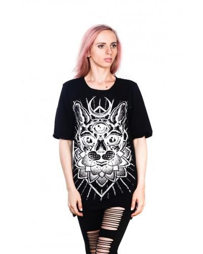 Удлиненная футболка Sphinx Black Unisex