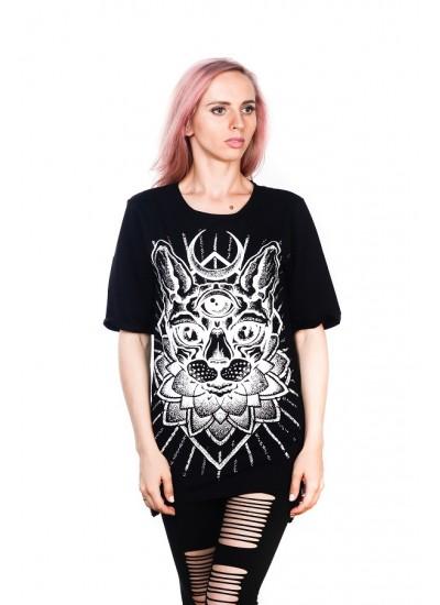 Удлиненная футболка Sphynx Black Unisex
