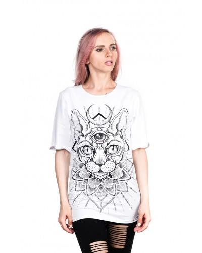 Удлиненная футболка Sphinx White Unisex