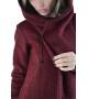 Теплая шерстяная мантия (пальто) Бордо