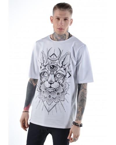 Удлиненная футболка Sphynx White