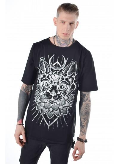 Удлиненная футболка Sphynx Black