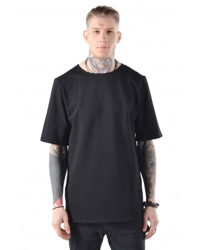 Удлиненная футболка Blank Black