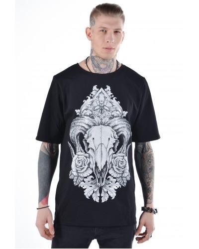 Удлиненная футболка Ram Black