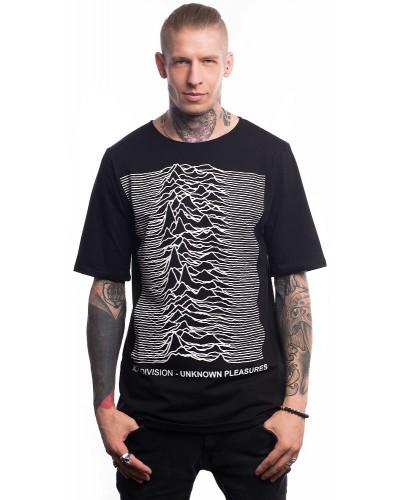 Удлиненная футболка Joy Division-Unknown pleasures, Black
