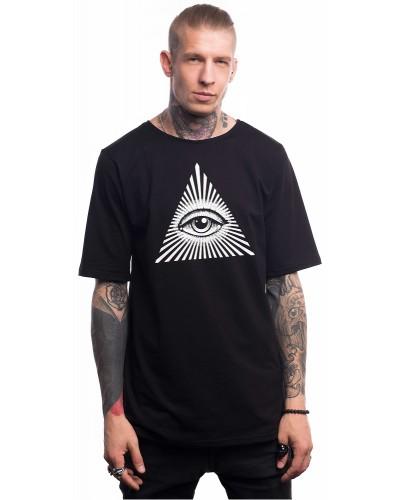 Удлиненная футболка Eye Illuminati, Black
