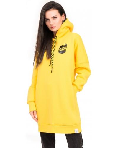 Платье оверсайз утепленное (желтое)