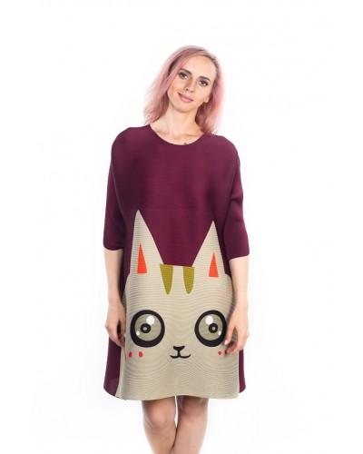 Платье Pretty Kitty (бордовое)
