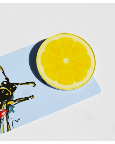 Пластиковый значок Orange Slice