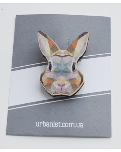 Значок деревянный Rabbit