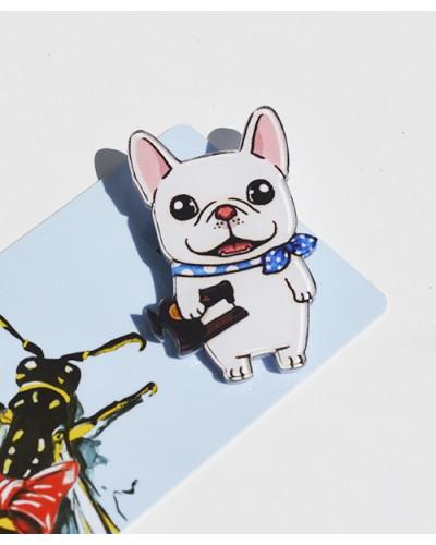 Пластиковый значок Bulldog