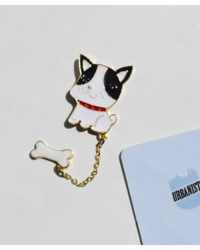 Металлический пин Doggie with a Bone
